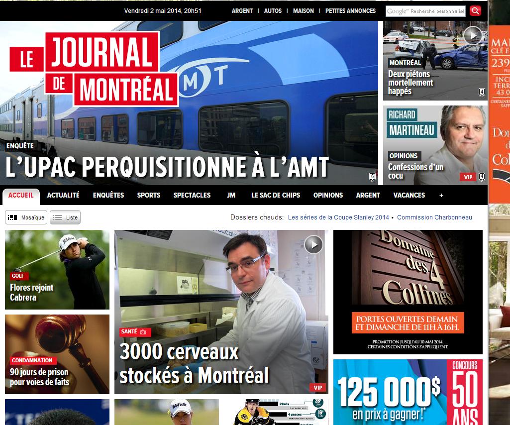 Journal de Montréal cover